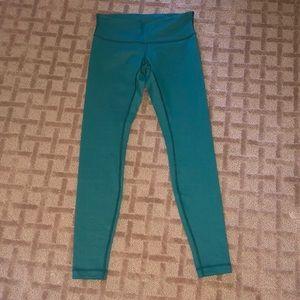 Green Lululemon Full Length Leggings